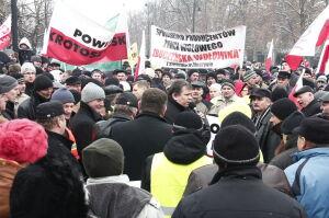 Rzeźnicy zablokowali Aleje Ujazdowskie