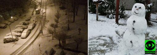 Biały Śląsk, w Krakowie śnieg z deszczem