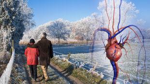Im zimniej, tym więcej zawałów serca. Szczególnie u seniorów