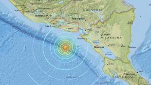 Silne trzęsienie ziemi w Ameryce Środkowej