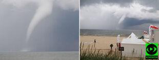 Trąba wodna nad Bałtykiem