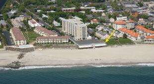 Zniszczona plaża w Long Branch (USGS)