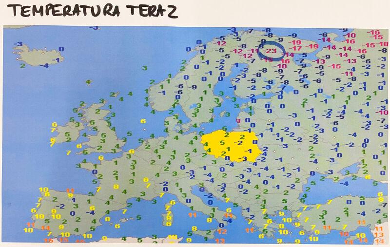 Temperatura w piątkowy poranek