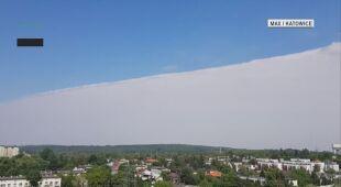 Geometryczny stratus nad Katowicami