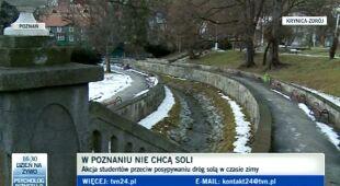 Spór o zimową sól (TVN24)